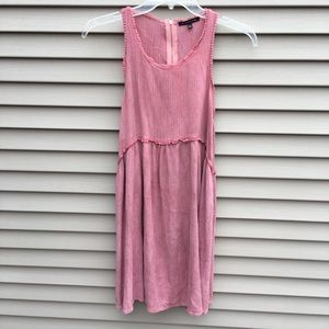Staccato pink sleeveless long maxi dress back zip